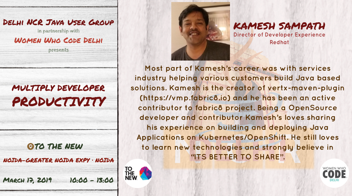 March Meetup Kamesh
